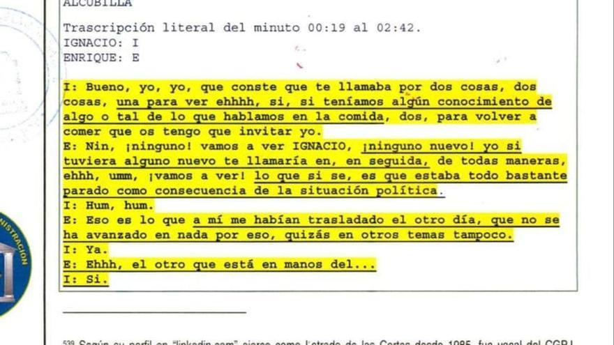 """El candidato al TC por el PP, a Ignacio González: """"Si tuviera algún dato, te llamaría enseguida"""""""