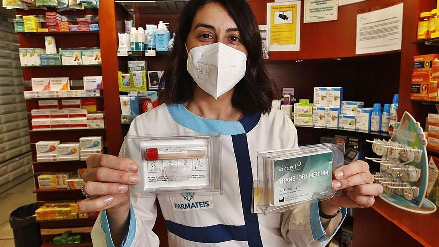 Cada farmacia podrá repartir una decena de test de saliva de COVID por jornada