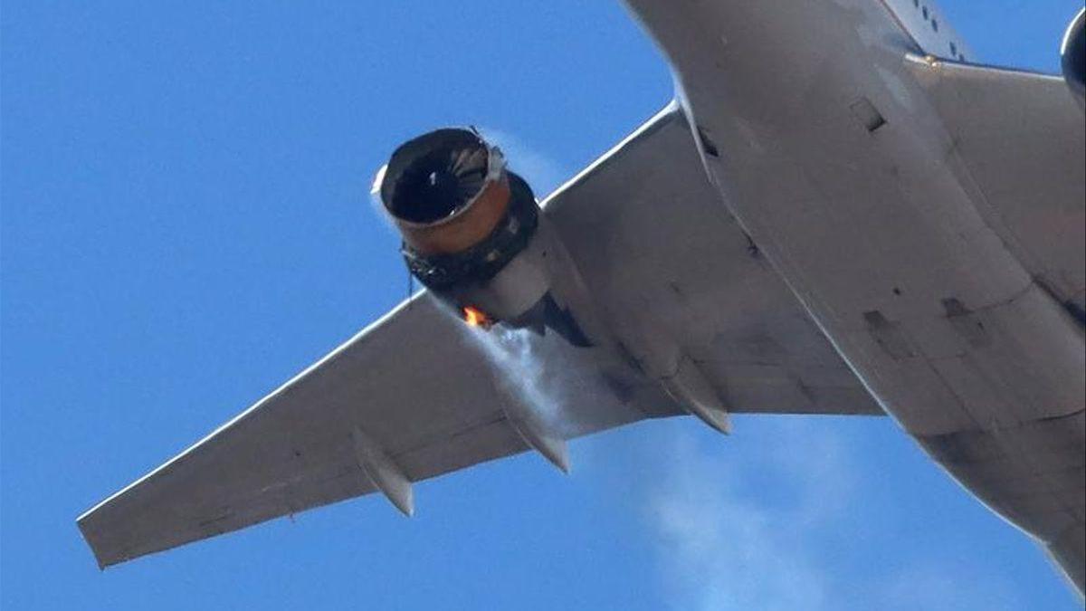 Aterrizaje de emergencia de un avión en Denver tras arder un motor