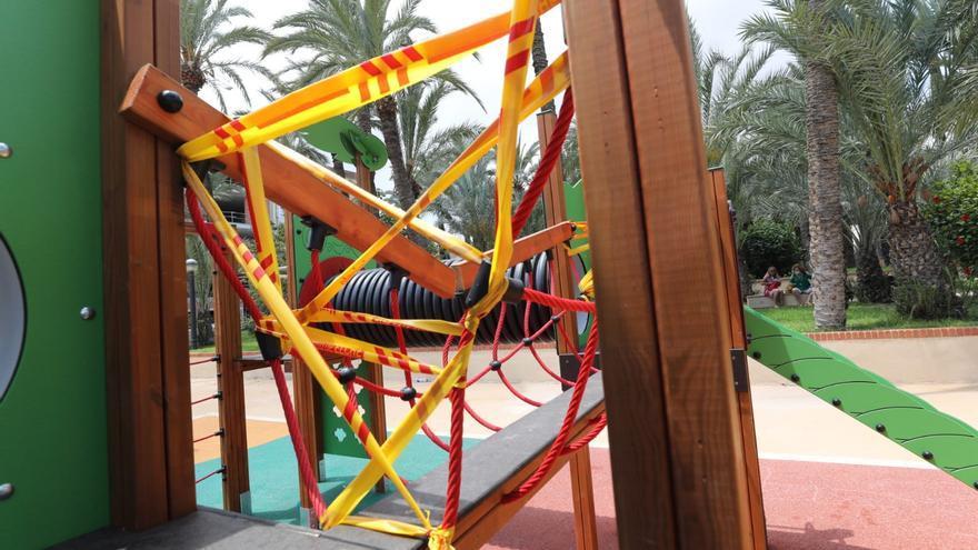 Dos semanas duran los juegos infantiles del Jardín de los Franciscanos por el vandalismo