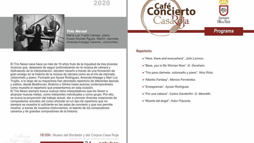 Café-concierto: Trío Nesol