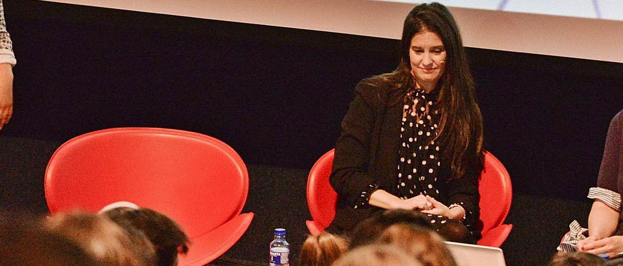 Tatiana Manso, en una conferencia reciente en Avilés.