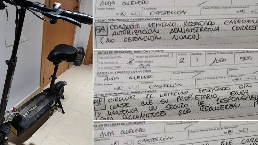 Multa de 2.000 euros por circular con un patinete eléctrico