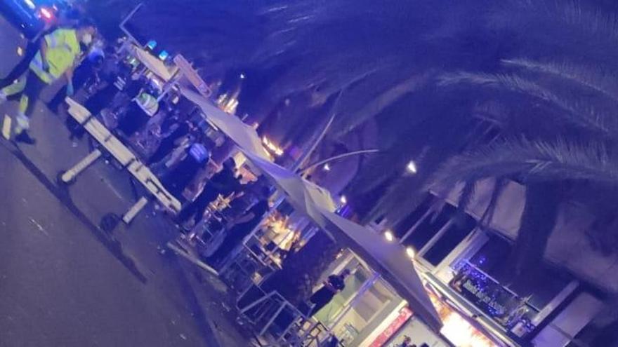 Vídeo: Siete heridos, uno grave, en un aparatoso accidente en la avenida Anaga de Santa Cruz