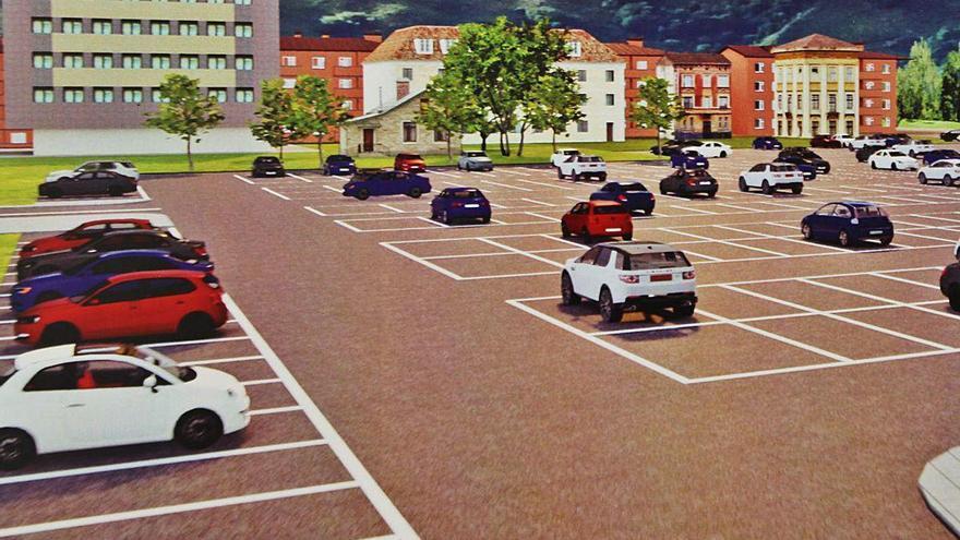 Pola de Laviana ganará 64 plazas de aparcamiento con el plan de movilidad