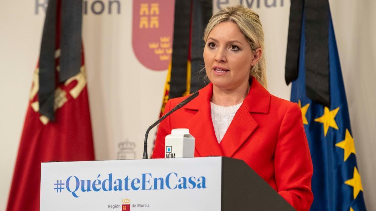 Ana Martínez Vidal, este jueves en la rueda de prensa posterior al Consejo de Gobierno.