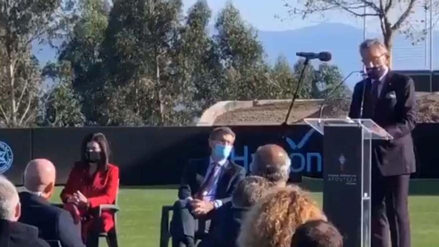 """Mouriño en la inauguración de la ciudad deportiva del Celta en Mos: """"Este proyecto nace de un sueño"""""""