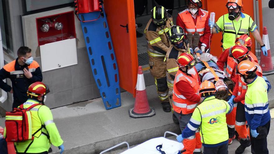 El túnel del soterramiento se pone a prueba en caso de accidente
