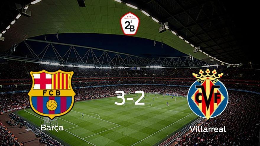 Triunfo 3-2 del Barcelona B ante el Villarreal B