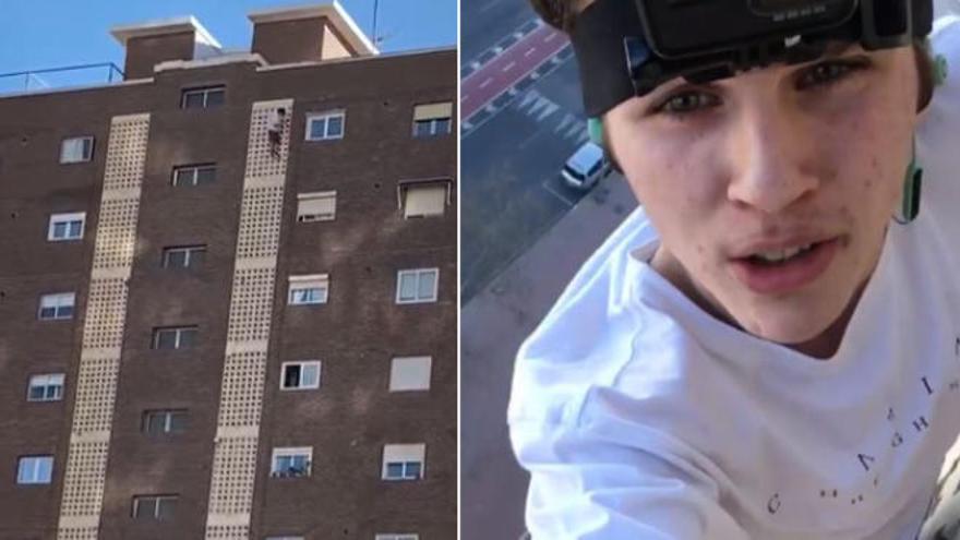 Trepa 11 pisos en Benidorm para hacerse una foto