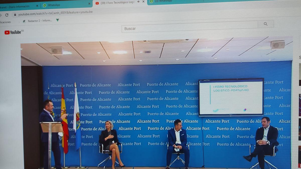Un momento del debate celebrado en la sede de la Autoridad Portuaria de Alicante