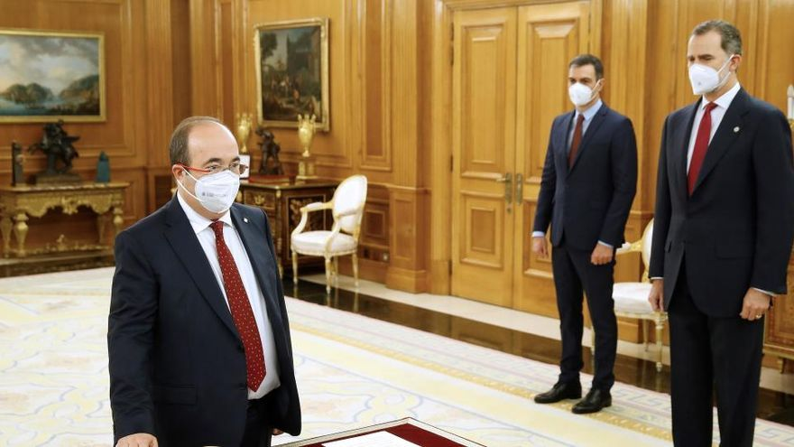 Directo | Darias e Iceta prometen sus cargos ante Felipe VI en la Zarzuela