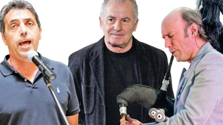 Víctor Manuel, Botifarra con Carlos Núñez, Zenet y Dulce Pontes, cartel de Nits al Castell