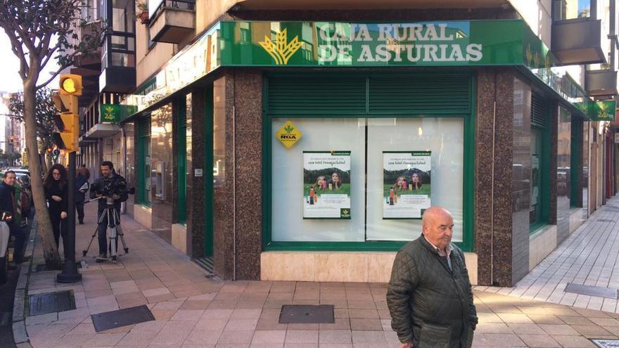 Atracan una sucursal bancaria en Gijón, en el barrio de Laviada