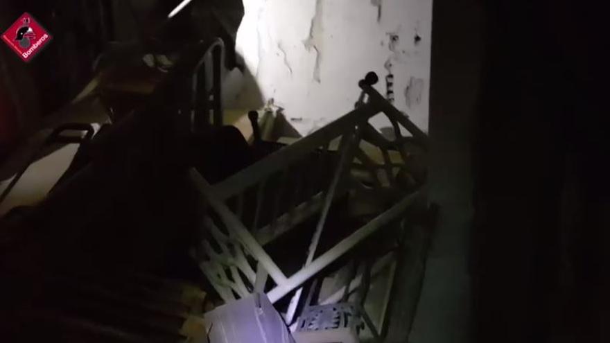 Así ha quedado el interior de la vivienda de Torrevieja tras la explosión