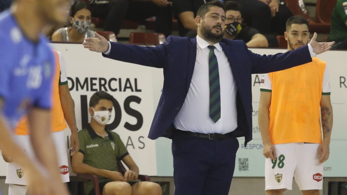 Josan González, durante un encuentro del Córdoba Patrimonio de la Humanidad de fútbol sala.