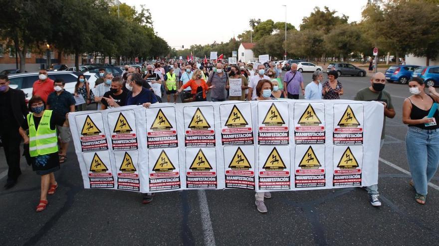 Manifestación contra el abuso de las eléctricas.