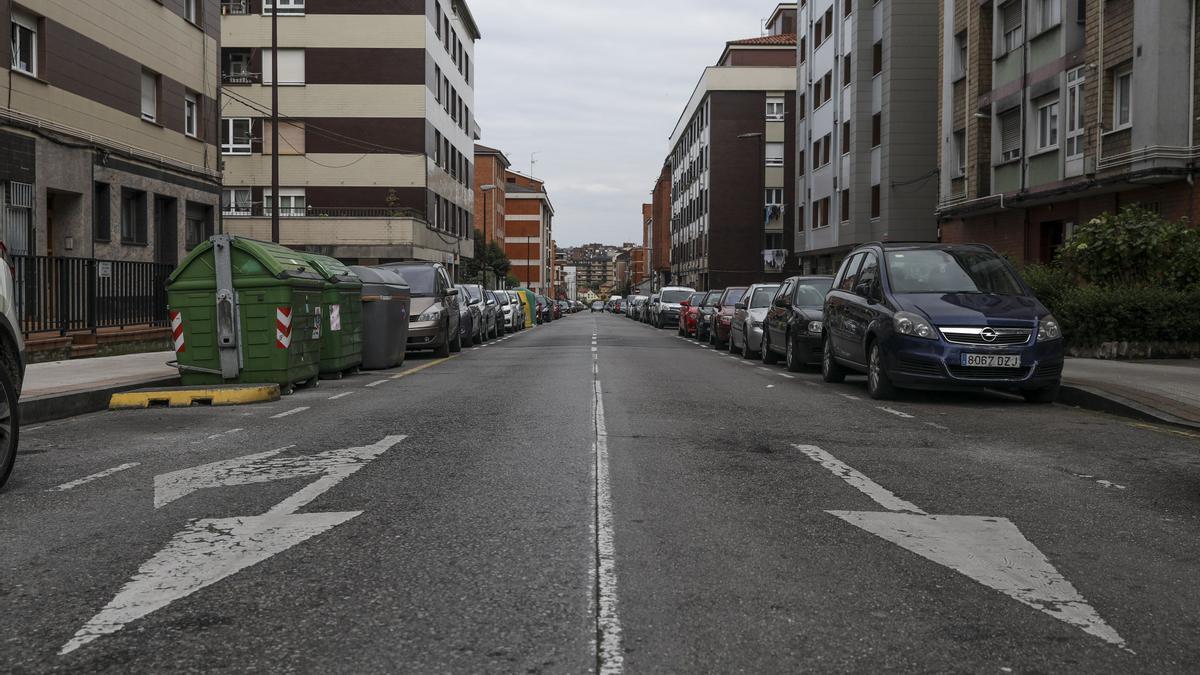 Un tramo de la calle Balmes.