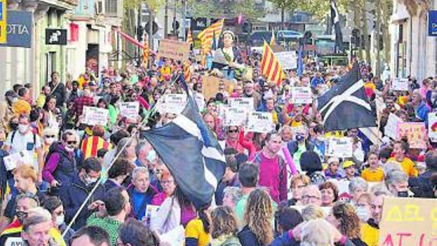 Manifestació a favor de La Bressola