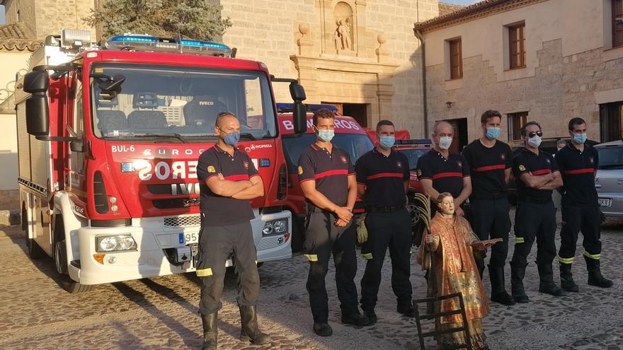 Los bomberos de Toro imploran protección a su patrón, San Lorenzo