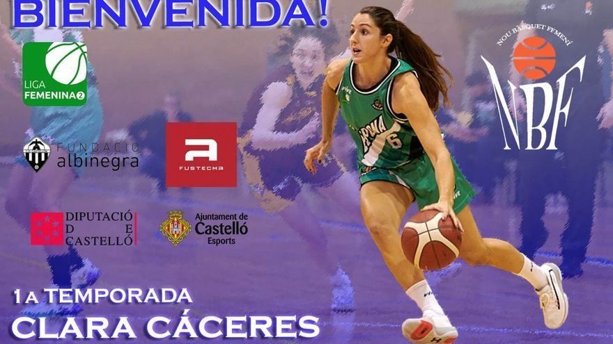 La base-escolta Clara Cáceres jugará en el Nou Castellón de Liga 2