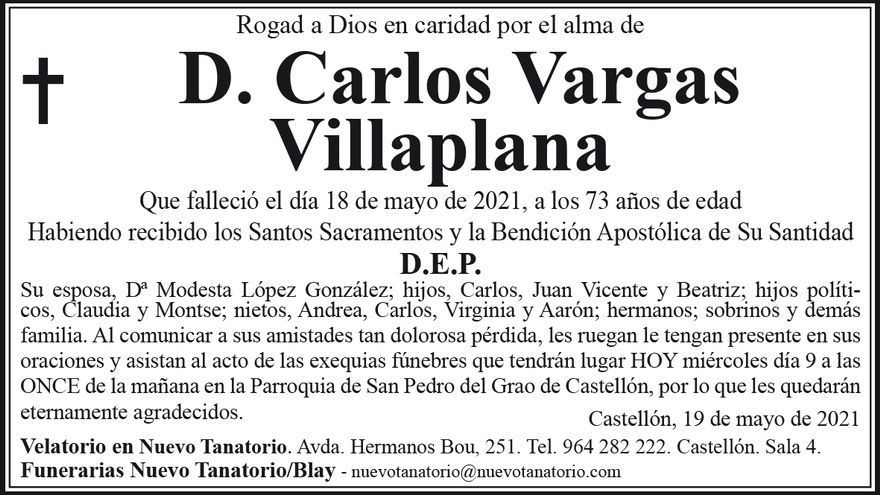 D. Carlos Vargas  Villaplana