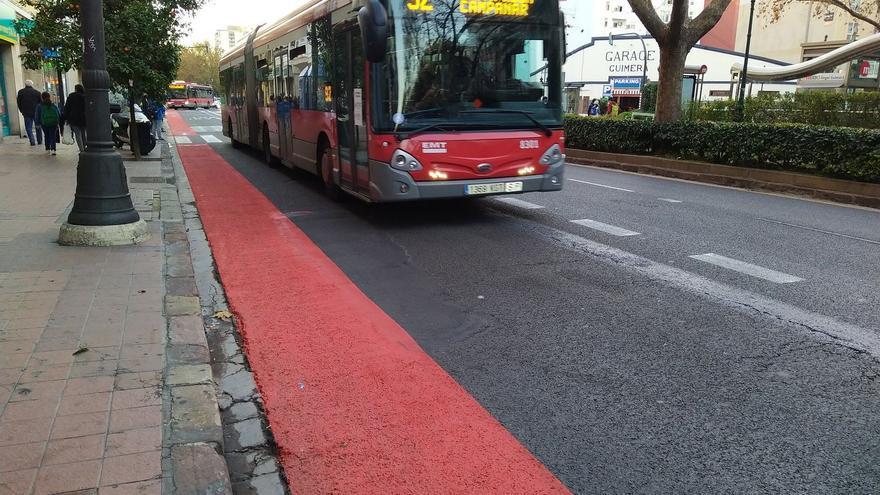 València en Bici cuestiona el último carril bici de Grezzi