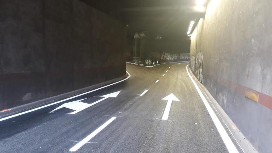 El túnel de General Riera se reabre al tráfico tras las obras por un socavón de tres metros
