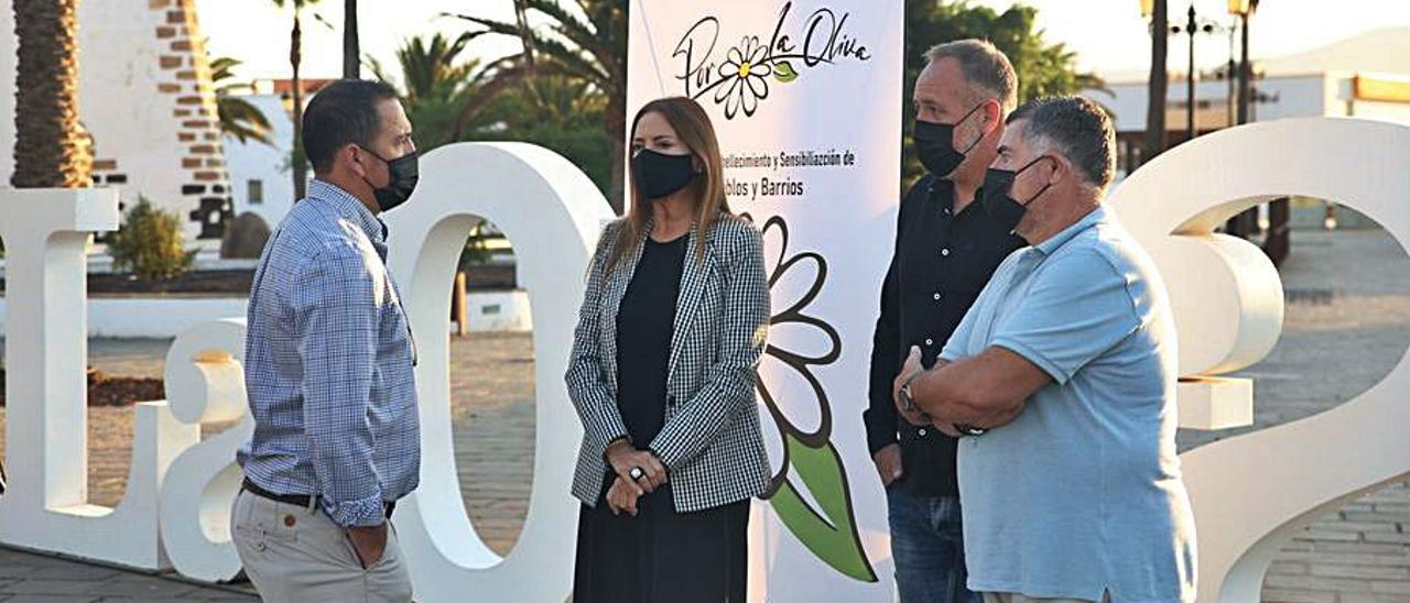 La alcaldesa Pilar González, en la presentación del proyecto.