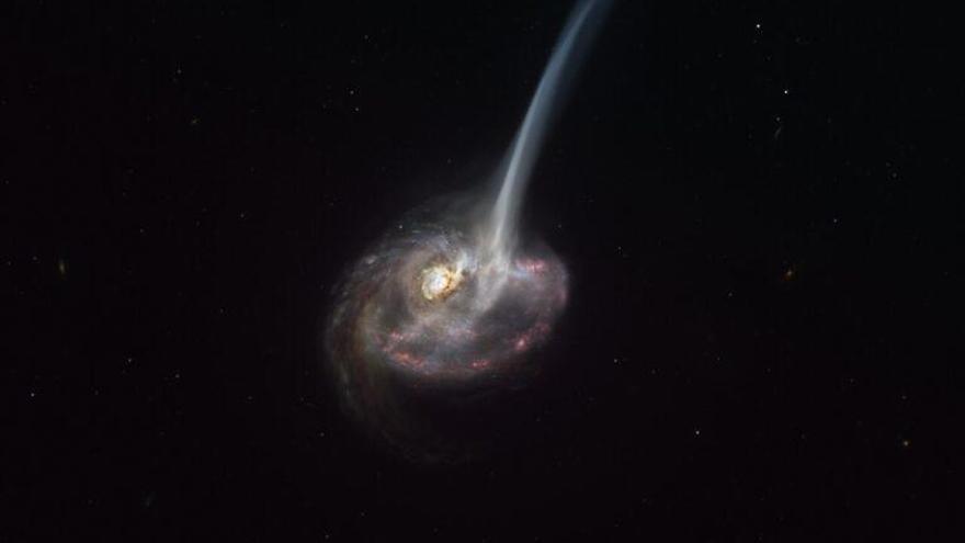Una colisión cósmica marca el principio del fin de las galaxias