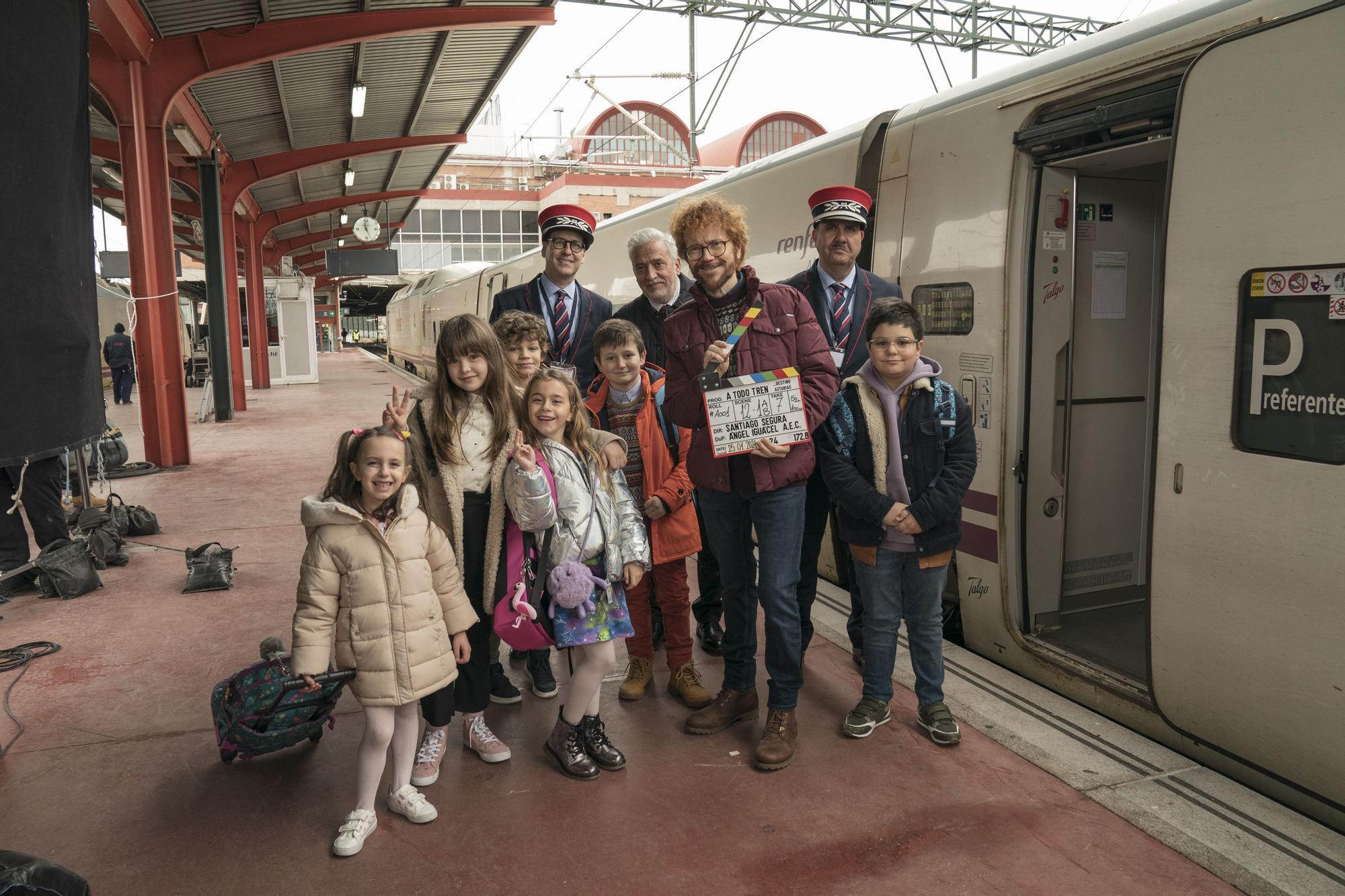 Las primeras imágenes de la grabación de la película de Santiago Segura en Asturias