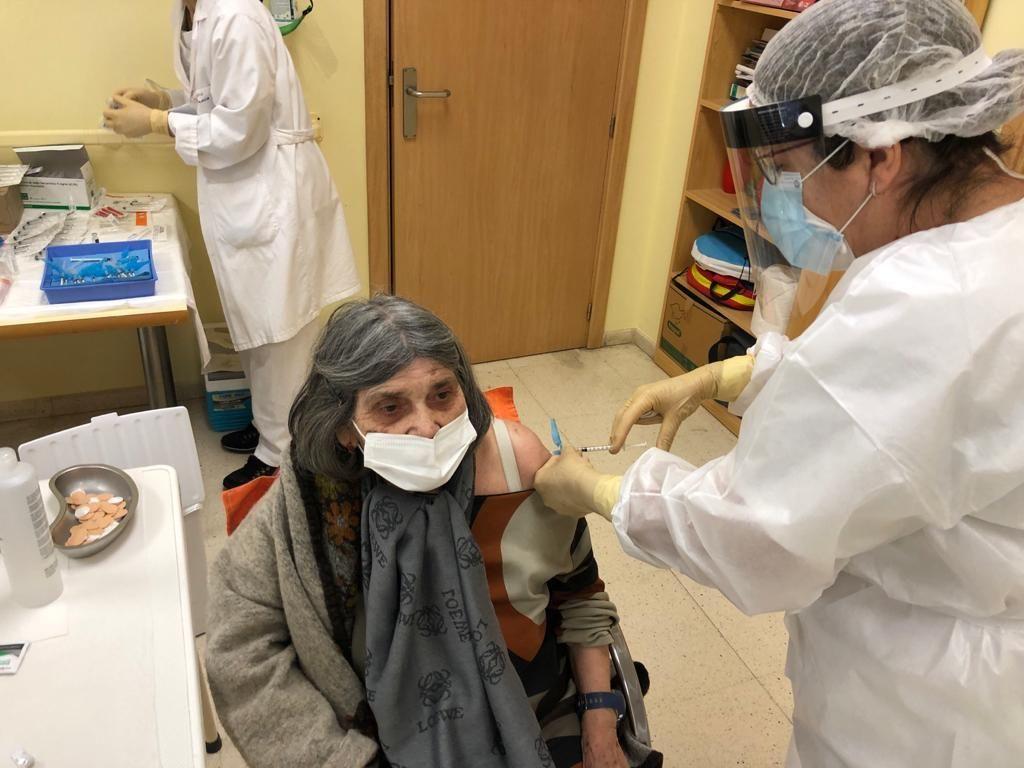 Primer día de vacunación