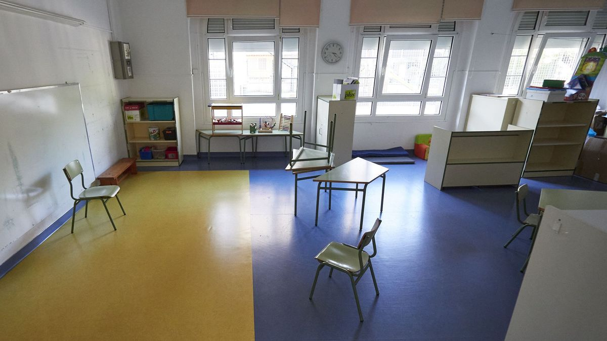 Un aula vacía en un colegio.