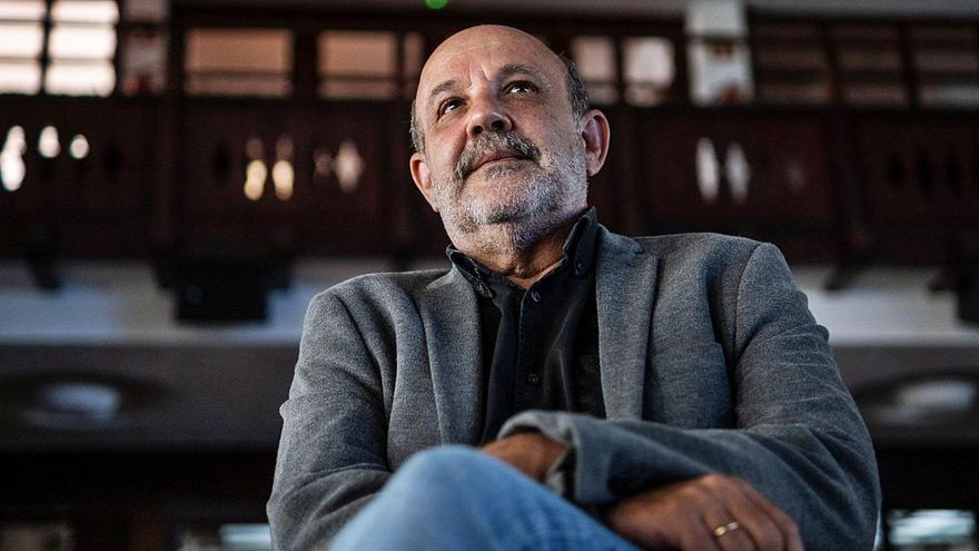 Jorge Perdigón durante la entrevista.