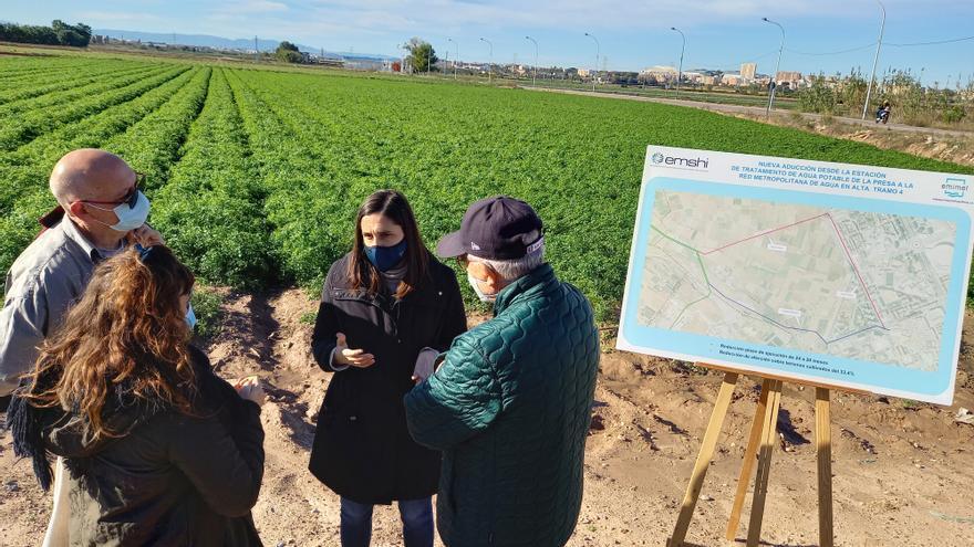 La nueva infraestructura que asegurará el abastecimiento de agua potable en València no atravesará la huerta de Campanar