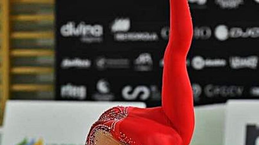 La lavianesa Alba González destaca en el Campeonato de España de gimnasia rítmica