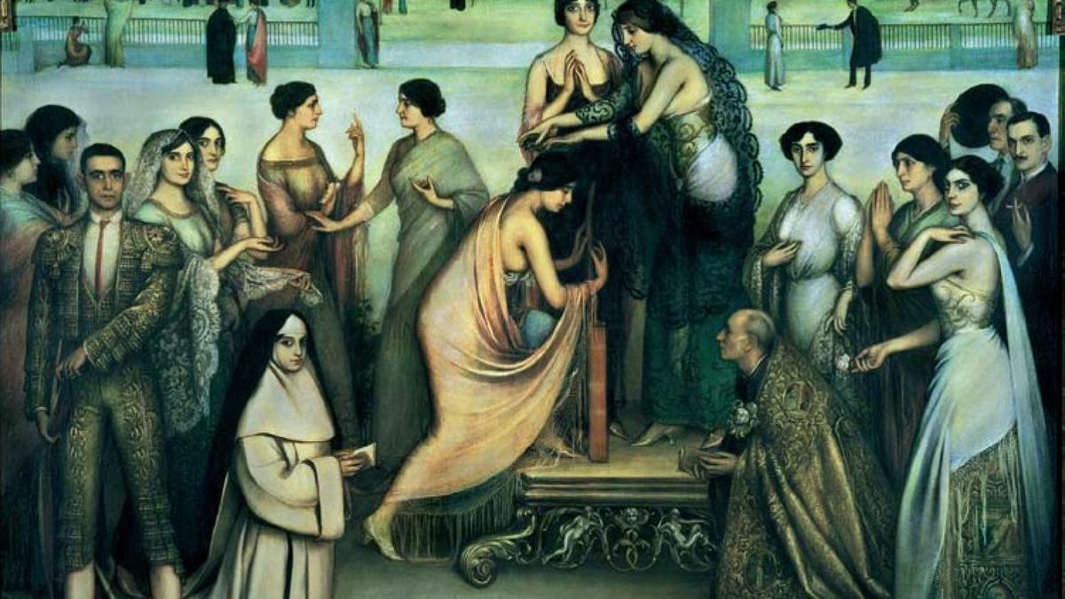 El cuadro de Romero de Torres 'La consagración de la copla'
