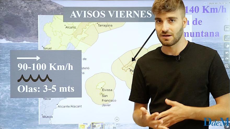 Alerta en Mallorca por lluvias y vientos de hasta 80 kilómetros por hora