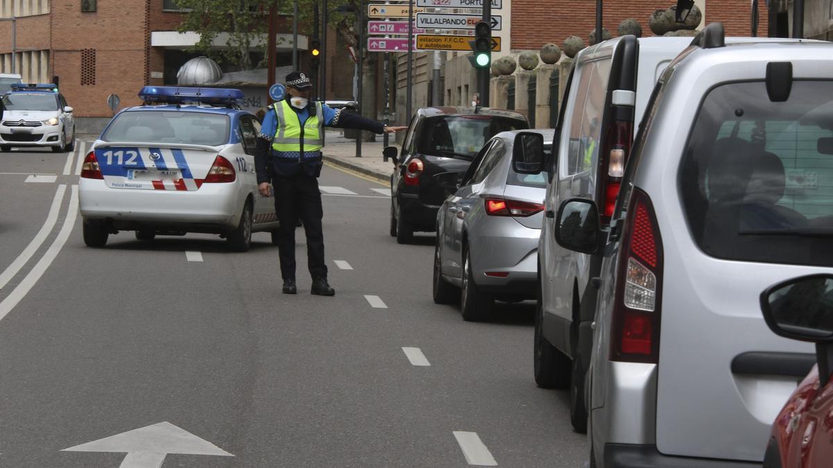 Un control de la Policía Municipal