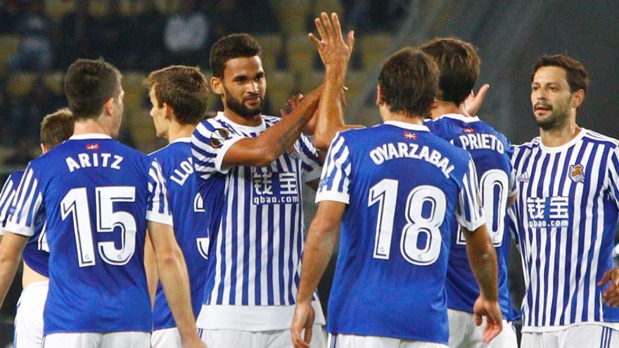 La Real arrasa al Vardar con 4 goles de Willian José