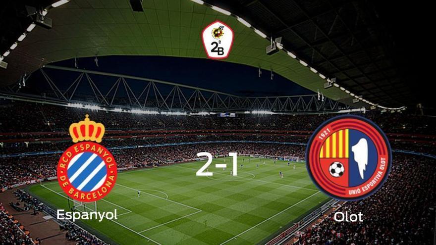 El Espanyol B suma tres puntos después de derrotar 2-1 al Olot