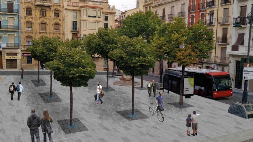 Alcoy acomete la primera fase para peatonalizar el centro con las obras de Sant Francesc