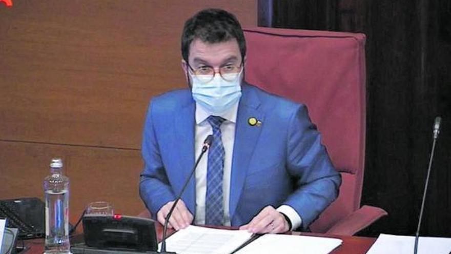 Aragonès retira de l'ordre del dia una possible sanció a l'exconseller Alfred Bosch