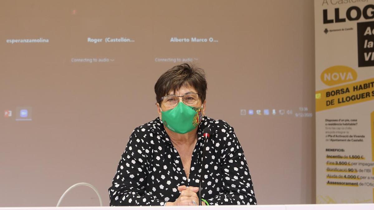 La concejala de Vivienda, María Jesús Garrido.