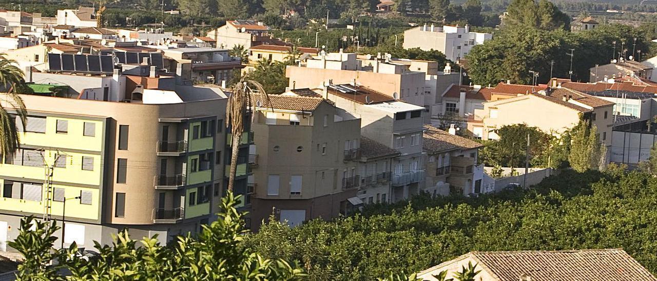 Vista del casco urbano del Genovés, donde ya no queda rastro del Palau del señorío | PERALES IBORRA