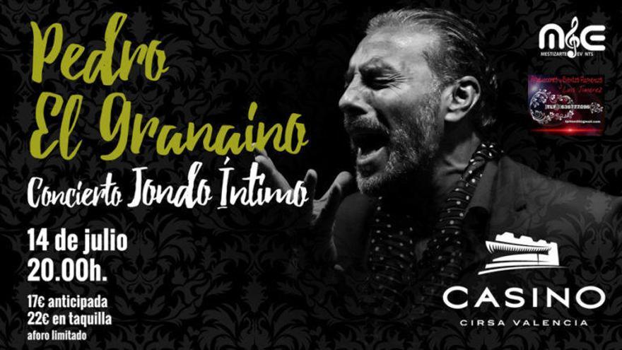 Concierto Jondó Íntimo de Pedro 'El Granaíno', en Casino Cirsa Valencia