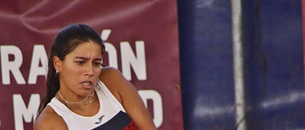 La vilagarciana mostró un alto nivel competitivo en Madrid.    // FDV