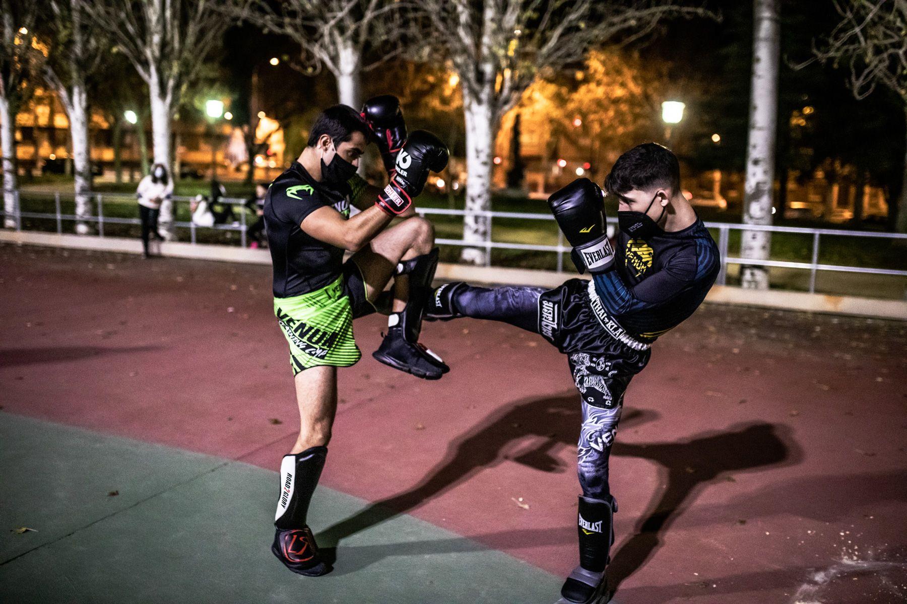 El parque León Felipe de Zamora se convierte en gimnasio