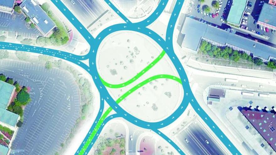 La rotonda de Anchieta se partirá en dos para desatascar el tráfico