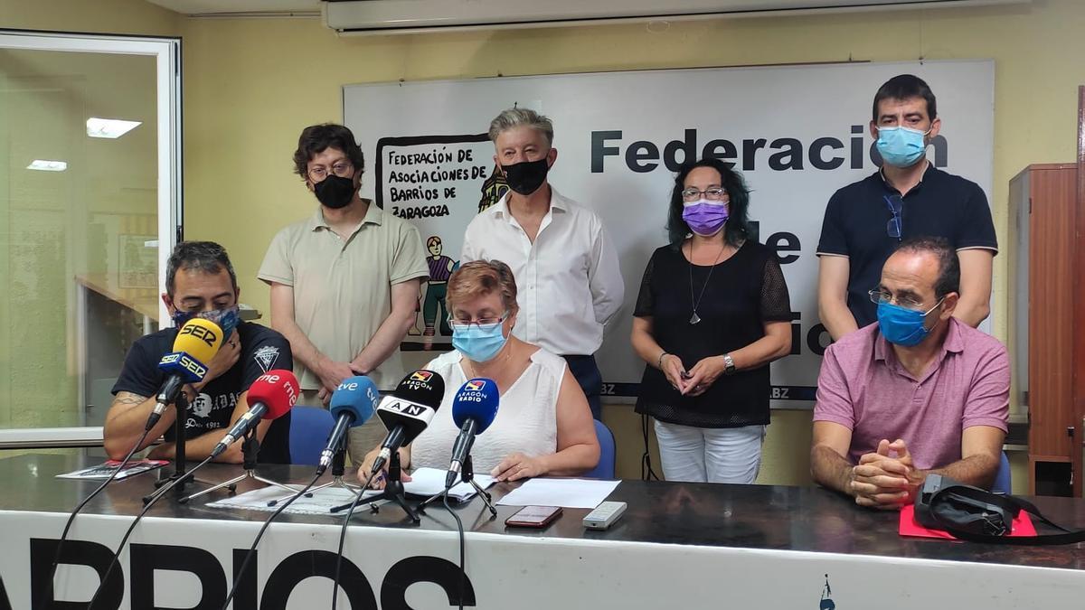 Representantes de las entidades firmantes del recurso
